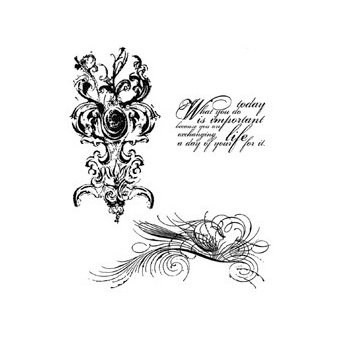 Stampers Anonymous - Tim Holtz - Cling Mounted Rubber Stamp Set - Fancy Flourish