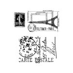 Stampers Anonymous - Tim Holtz - Cling Mounted Rubber Stamp Set - I See Paris