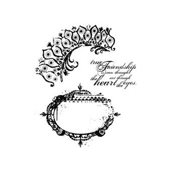 Stampers Anonymous - Tim Holtz - Cling Mounted Rubber Stamp Set - Tattered Elements