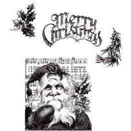 Stampers Anonymous - Tim Holtz - Christmas - Cling Mounted Rubber Stamps - Santa's Wish