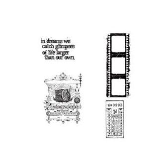 Stampers Anonymous - Tim Holtz - Cling Mounted Rubber Stamp Set - Captured Moments
