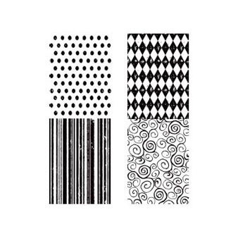 Stampers Anonymous - Tim Holtz - Cling Mounted Rubber Stamp Set - Tiny Textures