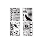 Stampers Anonymous - Tim Holtz - Cling Mounted Rubber Stamp Set - Creative Collages