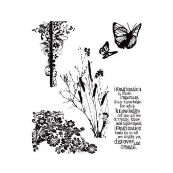 Stampers Anonymous - Tim Holtz - Cling Mounted Rubber Stamp Set - Nature's Discovery