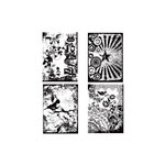 Stampers Anonymous - Tim Holtz - Cling Mounted Rubber Stamp Set - Eclectic Palette