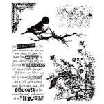 Stampers Anonymous - Tim Holtz - Cling Mounted Rubber Stamp Set - Urban Tapestry