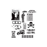 Stampers Anonymous - Tim Holtz - Cling Mounted Rubber Stamp Set - Mini Muse