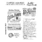 Stampers Anonymous - Tim Holtz - Cling Mounted Rubber Stamp Set - French Marketplace