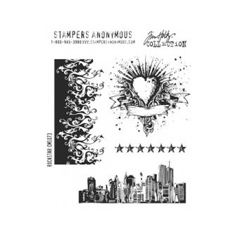 Stampers Anonymous - Tim Holtz - Cling Mounted Rubber Stamp Set - Rockstar