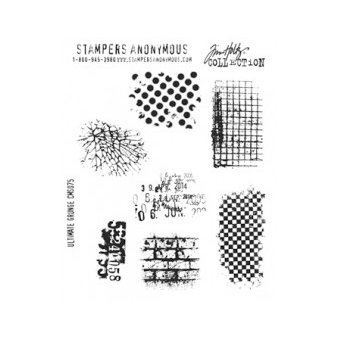 Stampers Anonymous - Tim Holtz - Cling Mounted Rubber Stamp Set - Ultimate Grunge