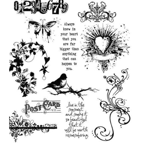 Stampers Anonymous - Tim Holtz - Cling Mounted Rubber Stamp Set - Urban Chic