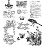 Stampers Anonymous - Tim Holtz - Cling Mounted Rubber Stamp Set - Shabby French