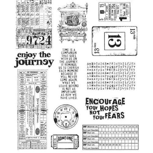 Stampers Anonymous - Tim Holtz - Cling Mounted Rubber Stamp Set - Going Somewhere