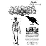 Stampers Anonymous - Tim Holtz - Cling Mounted Rubber Stamp Set - Haunted Mansion