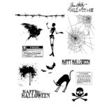 Stampers Anonymous - Tim Holtz - Cling Mounted Rubber Stamp Set - Mini Halloween