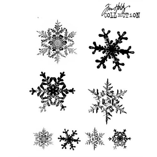 Stampers Anonymous - Tim Holtz - Cling Mounted Rubber Stamp Set - Grunge Flakes