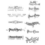 Stampers Anonymous - Tim Holtz - Cling Mounted Rubber Stamp Set - Postcards
