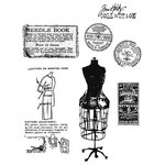 Stampers Anonymous - Tim Holtz - Cling Mounted Rubber Stamp Set - Habersashery