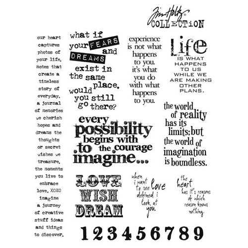 Stampers Anonymous - Tim Holtz - Cling Mounted Rubber Stamp Set - Stuff to Say