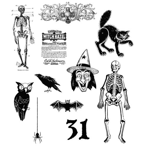 Stampers Anonymous - Tim Holtz - Halloween - Cling Mounted Rubber Stamps - Mini Halloween 2