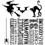 Stampers Anonymous - Tim Holtz - Halloween - Cling Mounted Rubber Stamps - Halloween Silhouettes