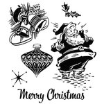 Stampers Anonymous - Tim Holtz - Christmas - Cling Mounted Rubber Stamps - Christmas Memories