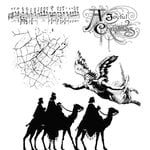 Stampers Anonymous - Tim Holtz - Christmas - Cling Mounted Rubber Stamps - Joyful Song