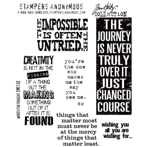 Stampers Anonymous - Tim Holtz - Cling Mounted Rubber Stamp Set - Words For Thought