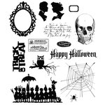 Stampers Anonymous - Tim Holtz - Cling Mounted Rubber Stamp Set - Mini Halloween 3