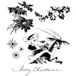 Stampers Anonymous - Tim Holtz - Cling Mounted Rubber Stamp Set - Christmas Time