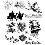 Stampers Anonymous - Tim Holtz - Cling Mounted Rubber Stamp Set - Mini Holidays 4