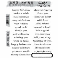 Stampers Anonymous - Tim Holtz - Cling Mounted Rubber Stamp Set - Simple Sayings