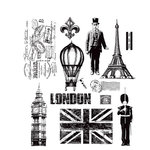 Stamper's Anonymous - Tim Holtz - Cling Mounted Rubber Stamp Set - Paris to London