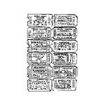 Stampers Anonymous - Tim Holtz - ATC - Cling Mounted Rubber Stamps - Ticket Collage