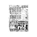 Stampers Anonymous - Tim Holtz - ATC - Cling Mounted Rubber Stamps - Ledger Collage