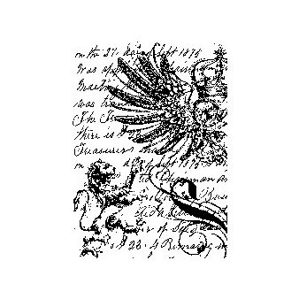 Stampers Anonymous - Tim Holtz - ATC - Cling Mounted Rubber Stamps - Regal Collage