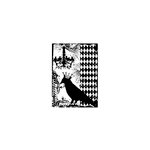 Stampers Anonymous - Tim Holtz - ATC - Cling Mounted Rubber Stamps - Blackbird