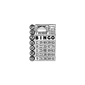 Stampers Anonymous - Tim Holtz - ATC - Cling Mounted Rubber Stamps - Games