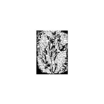 Stampers Anonymous - Tim Holtz - ATC - Cling Mounted Rubber Stamps - Flutter