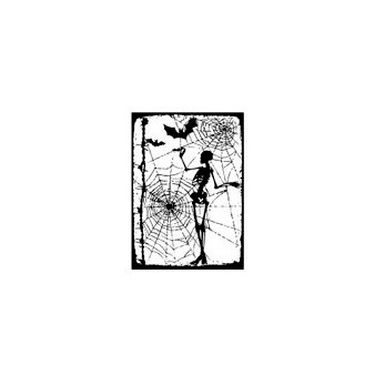 Stampers Anonymous - Tim Holtz - Halloween - ATC - Cling Mounted Rubber Stamps - X-Ray