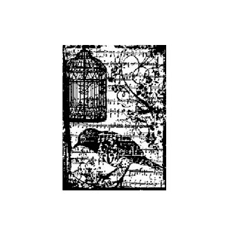 Stampers Anonymous - Tim Holtz - ATC - Cling Mounted Rubber Stamps - Birdsong