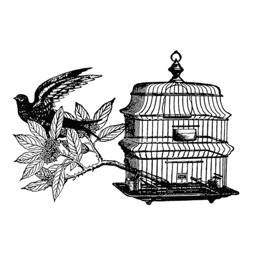 Stamper's Anonymous - Donna Salazar - Cling Mounted Rubber Stamp Set - Free as a Bird