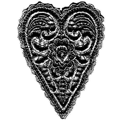 Stampers Anonymous - Donna Salazar - Cling Mounted Rubber Stamp Set - Heart Applique
