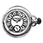 Stampers Anonymous - Donna Salazar - Cling Mounted Rubber Stamp Set - Pocket Watch
