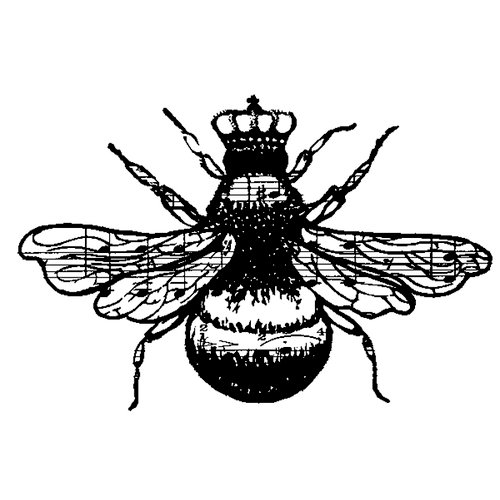 Stampers Anonymous - Donna Salazar - Cling Mounted Rubber Stamp Set - Queen Bee
