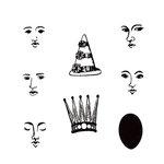 Stampers Anonymous - Donna Salazar - Cling Mounted Rubber Stamp Set - Doll Face