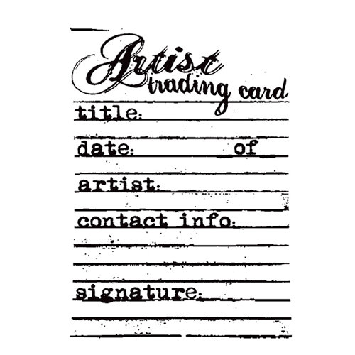 Stampers Anonymous - Donna Salazar - Cling Mounted Rubber Stamp Set - Lined Artist Trading Cards