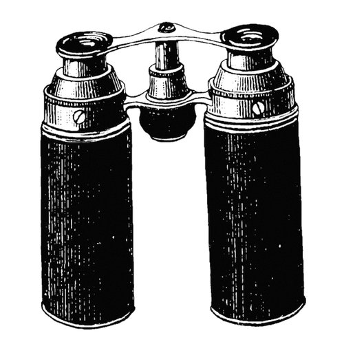Stamper's Anonymous - Donna Salazar - Cling Mounted Rubber Stamp Set - Binoculars