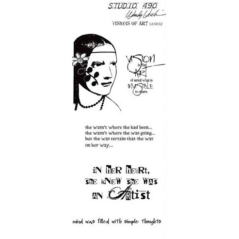 Stampers Anonymous - Studio 490 Collection - Cling Mounted Rubber Stamp Set - Visions of Art