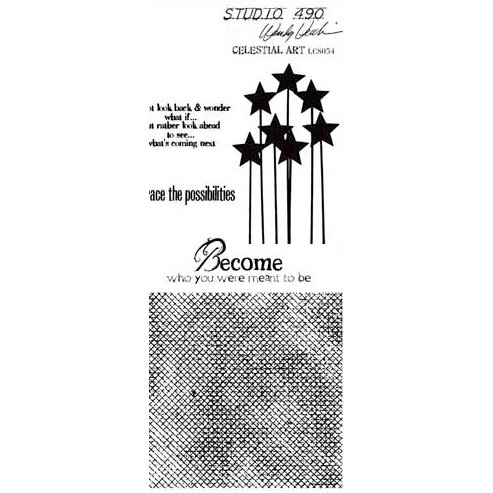 Stampers Anonymous - Studio 490 Collection - Cling Mounted Rubber Stamp Set - Celestial Art